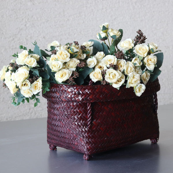 Artificial White Rose Bouquet