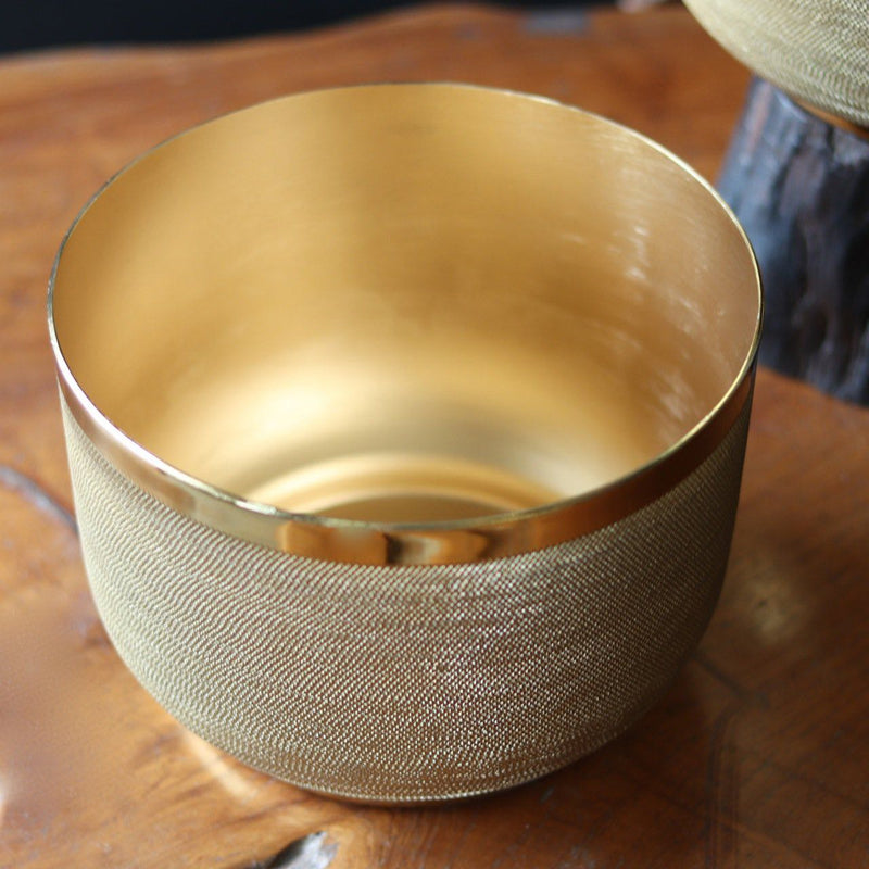 Brass Ridged Planter