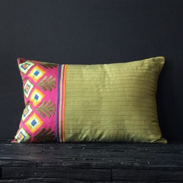 Green Mithila Cushion Cover 12