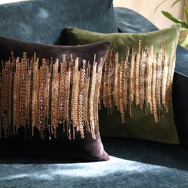 Gold Line Cushion Cover
