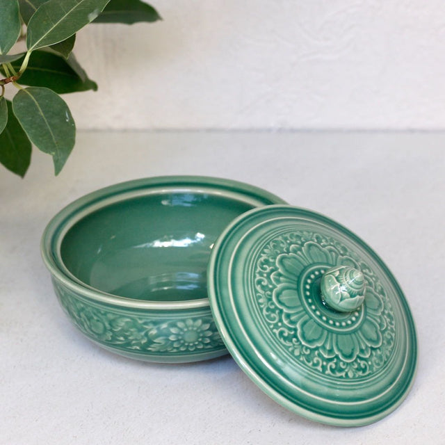 Jade Bowl with Lid