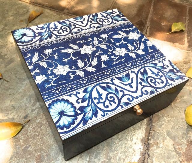 Blue & White Gift Box