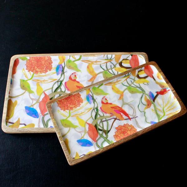 Parrot Wooden Trays
