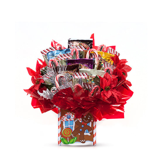 Candy Cane Christmas & Holiday Candy Bouquet