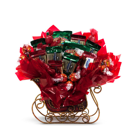Holiday Sleigh Candy Bouquet
