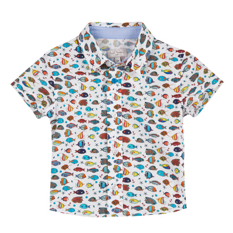 Paul Smith Tarik White Baby Shirt