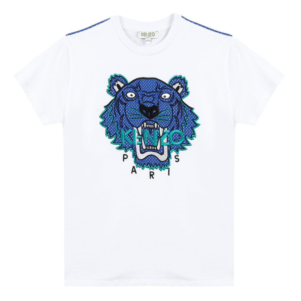 Kenzo  Tiger Jb Short-Sleeved White Cotton Jersey T-Shirt