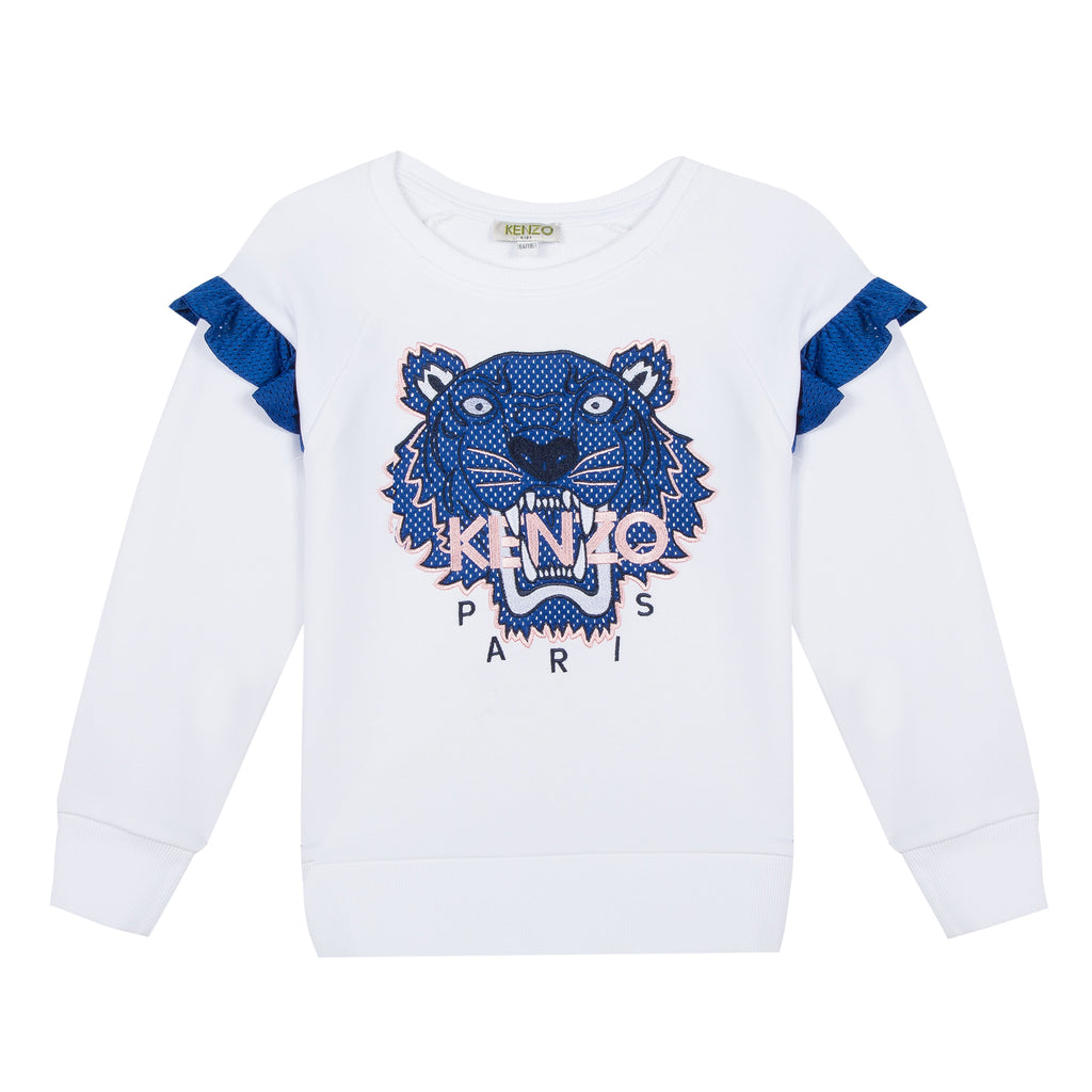 Kenzo  Tiger Jg White Cotton Sweatshirt