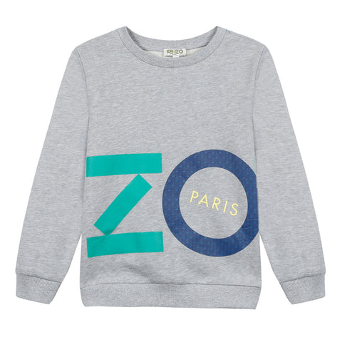 Kenzo  Fiorino Heather Gray Cotton Sweatshirt