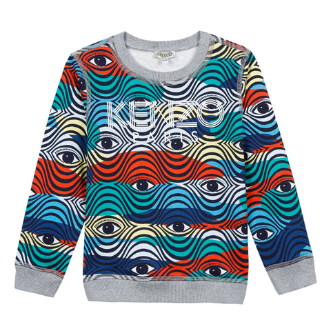Kenzo  Logo Jb Multicolor And Graphic Cotton Sweatshirt