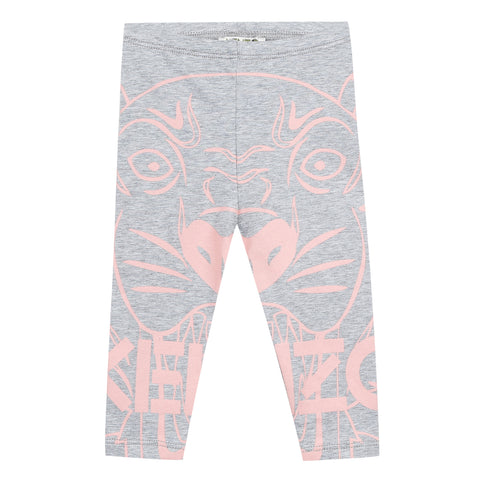 Kenzo  Tiger Bg Grey Cotton Jersey Legging