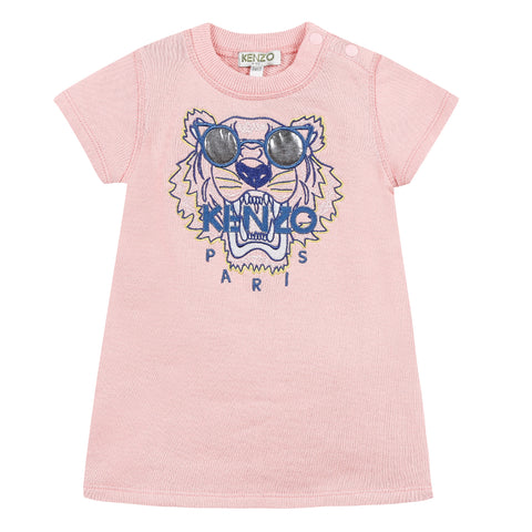 Kenzo Tiger Jg Pink Dress