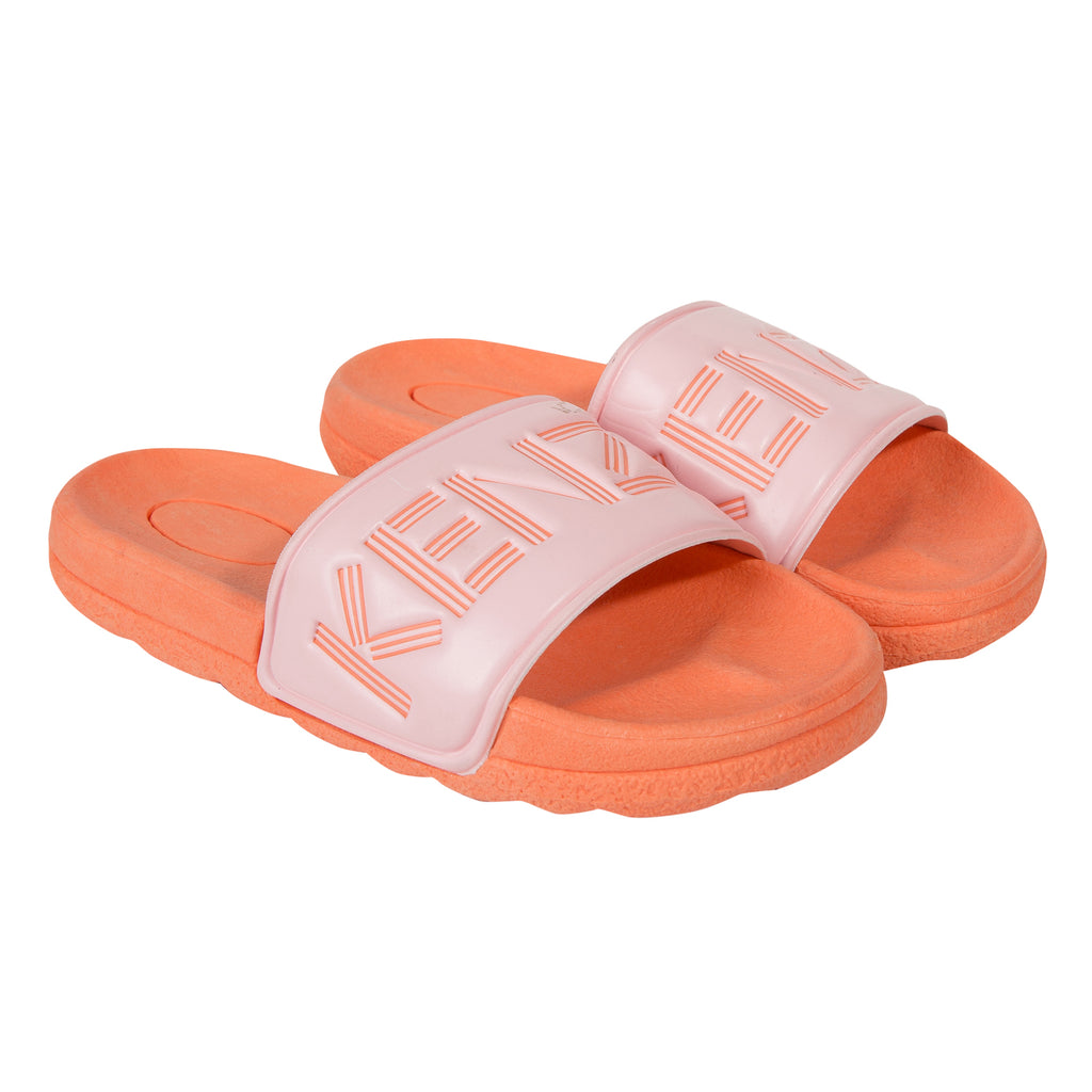 Kenzo  Felly  Apricot And Pink Polyurethane Sandals