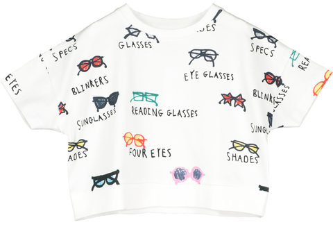 Beau Loves Spectacles Crop Sweater