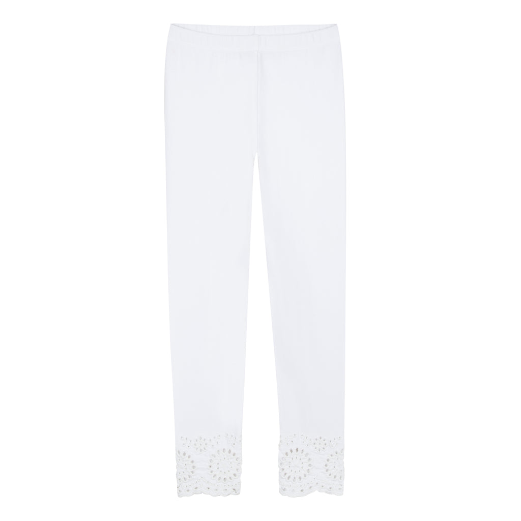 Lili Gaufrette Group White Leggings