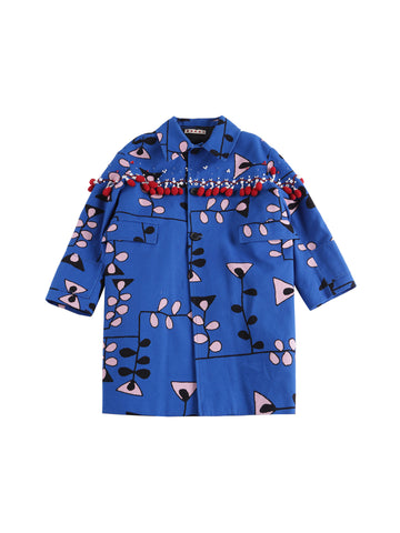 Marni  Brilliant Blu Overcoat