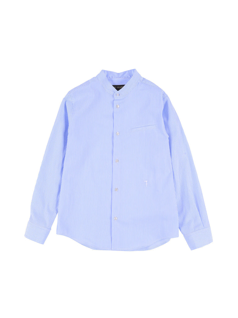 Trussardi Junior Striped Light Blue Shirt