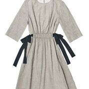Zaikamoya  Grey Dress With Black Bows