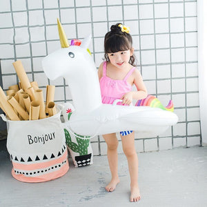 Inflatable Unicorn Swimming Float for Baby