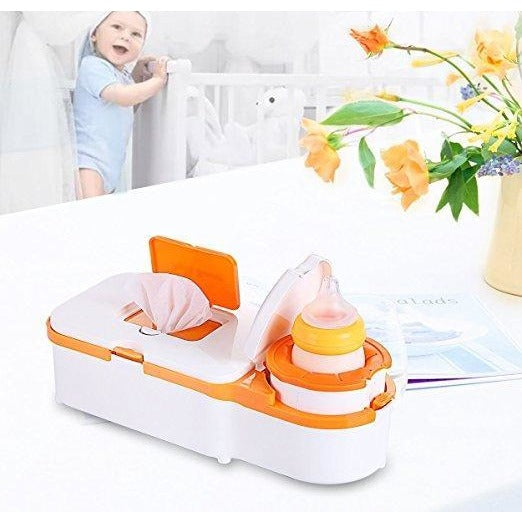 Baby Wipe Warmer and Bottle Warmer Home and Car Use 2 in 1 Multi-purpose Safe Voltage
