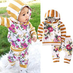 Cute Swag Floral Hooded Set