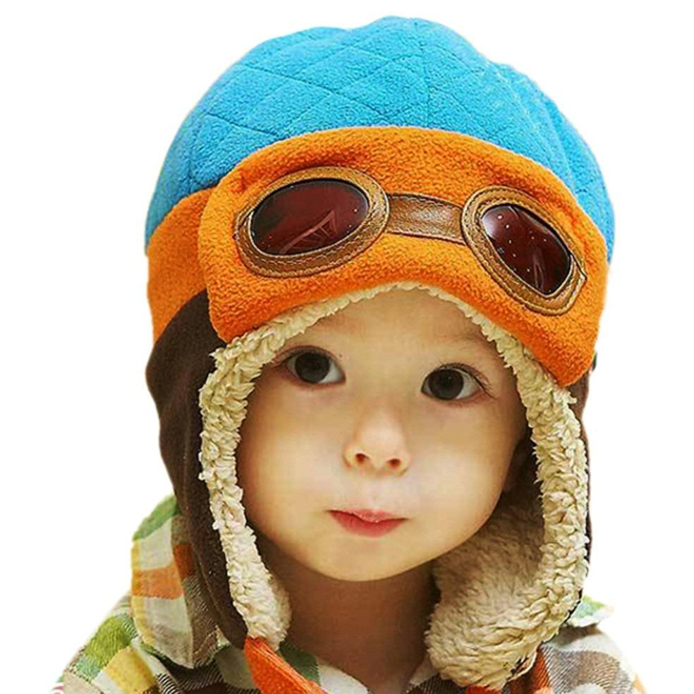 Adorable Aviator Inspired Baby Beanie Hat