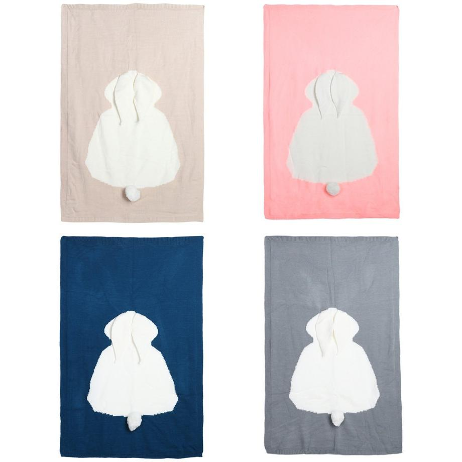Soft Wool Rabbit Design Baby Blanket