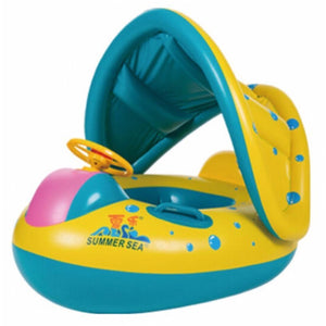 Inflatable Baby Kids Shade Float Safety Swimming Ring