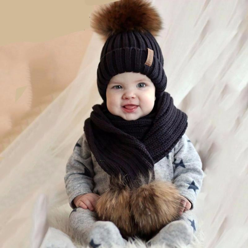 Winter Warm Chunky Thick Knit Beanie Hat and Scarf