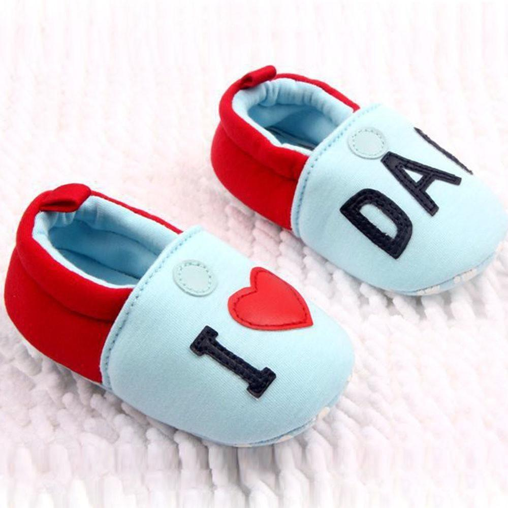 Flat Soft Slippers With I LOVE MOM/DAD Print