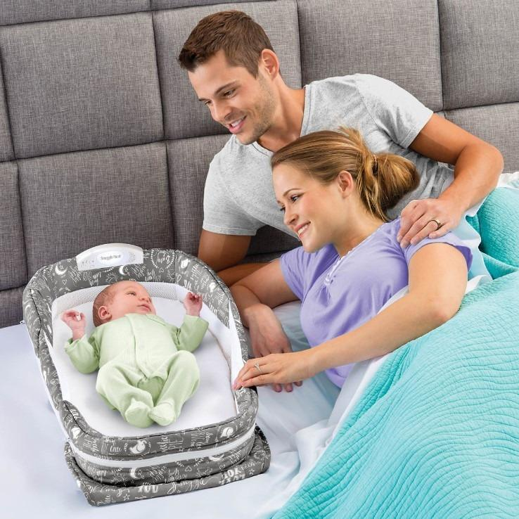 Baby Bed With Pillow Portable/Foldable Crib With Newborn