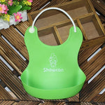 Colorful Feeding Bib with Food Catching Pocket