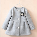 Single Breasted Outwear Jacket for Baby Girl
