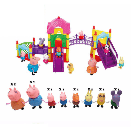Action Figure Series of Amusement Park Peppa Pig Toys