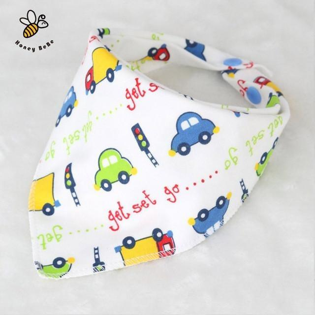 Character Printed Bandana Bibs Suitable For Babies