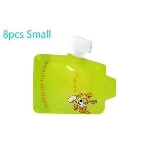 Reusable Double Zipper Baby Food Pouch