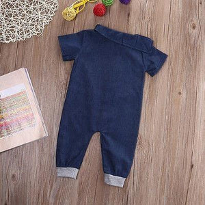 Denim Fashion Bodysuit