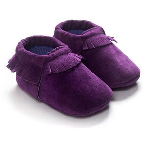 Stylish and Comfy Suede Leather Newborn Footwear