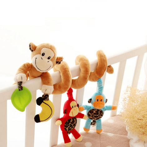 Educational Hanging Cartoon Animal Pattern Crib Rattle Toy