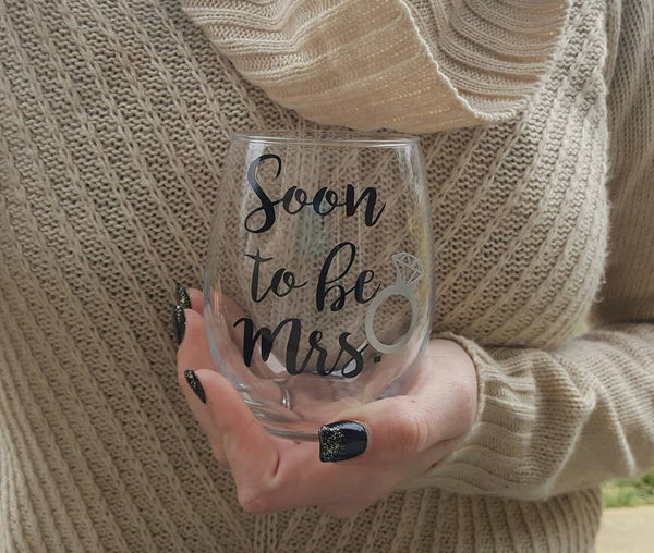 Soon To Be Mrs Wine Glass, Future Mrs Wine Glass