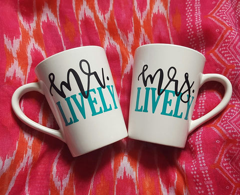 His And Her Coffee Mugs, Mr And Mrs Coffee Mugs