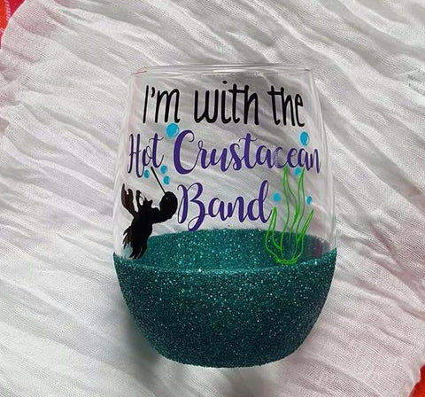 The Little Mermaid Inspired Wine Glass, Under The Sea