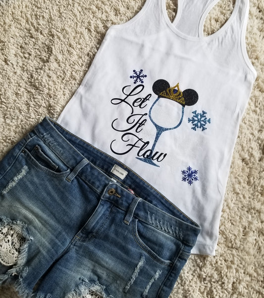 Elsa Let It Flow Disney Princess  Food And Wine Festival Tank Top