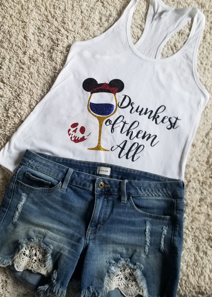 Snow White Drunkest Of Them All Disney Princess  Food And Wine Festival Tank Top