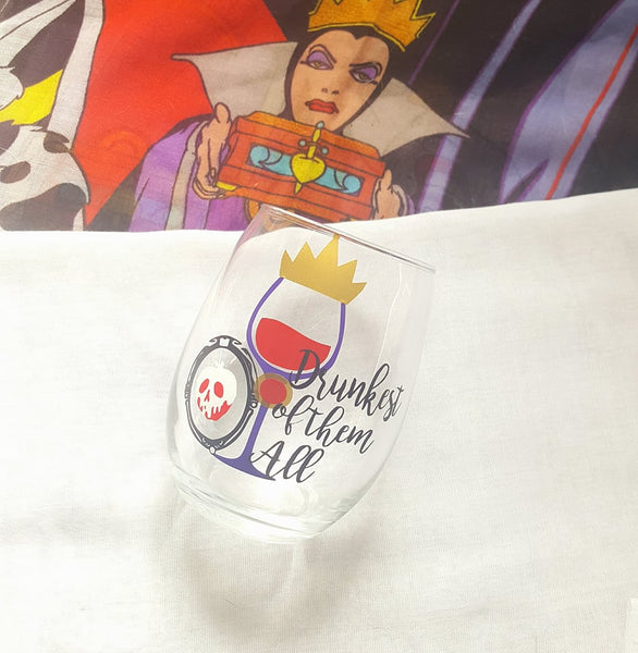 Disney Villains Evil Queen Snow White Wine Glass Food And Wine Festival Cup, Drunkest Of Them All