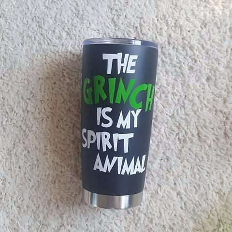 The Grinch Is My Spirit Animal Travel Coffee Mug