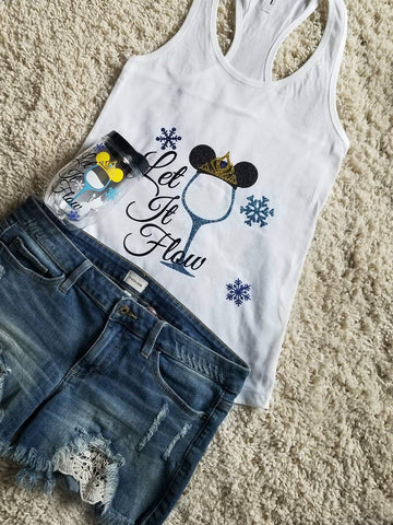Elsa Let It Flow Epcot Tank Top & Cup Set