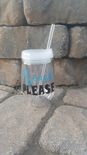 Beach Please To Go Cup Tumbler