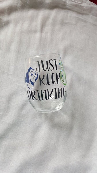 Dory Wine Glass. Disney Wine Glass