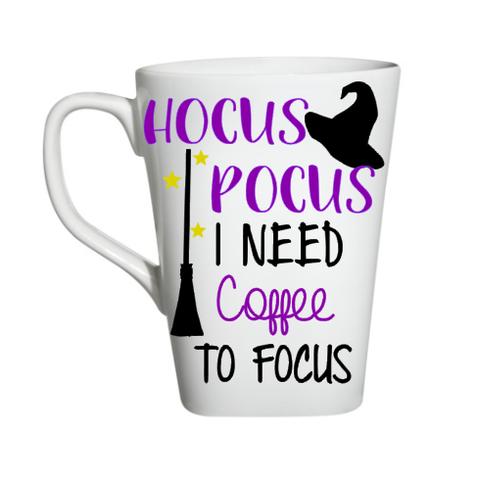 Hocus Pocus I Need Coffee To Focus Halloween Coffee Mug